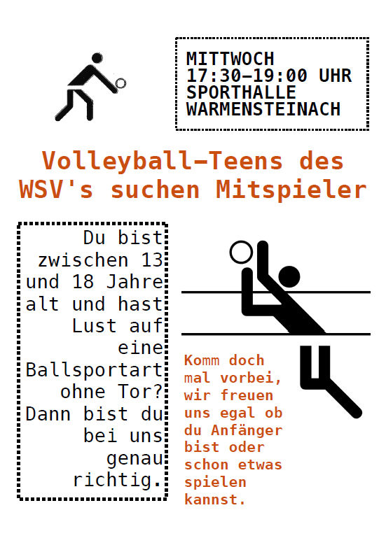 Plakat Volleyball