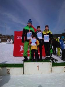 Die vier Starter des WSV Warmensteinach Max Schmidt, Charlotte Schmidt, Moritz Schmidt und Silke Böttger konnten den Wettkampf in ihren Altersklassen gewinnen.