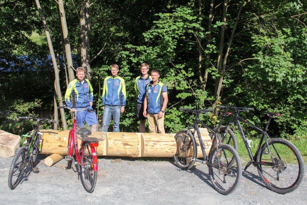 Fahrradständer am Waldschwimmbad