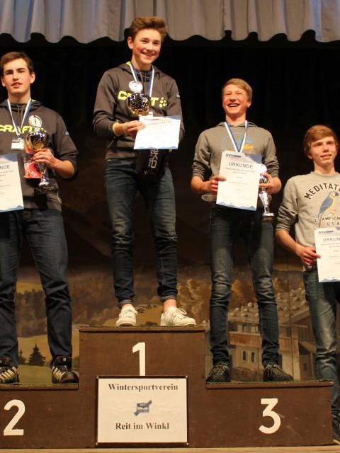 Siegerehrung Einzel 5km 2. Platz Max Schmidt 4. Platz Lukas Manske WSVO