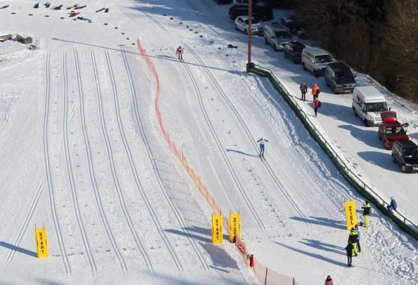 Wie bei Olympia: der Start und Zielbereich im Warmensteinacher Skistadion