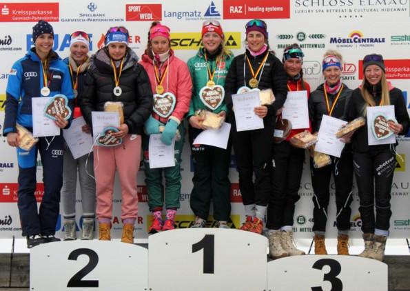 Bayern-Staffel gewinnt die deutsche Nachwuchs-Meisterschaft im Biathlon